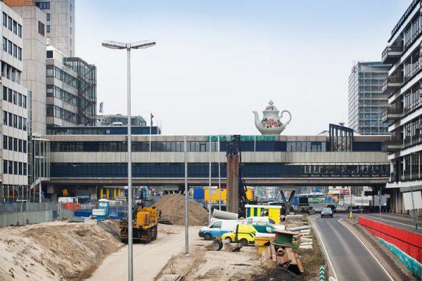 Utrecht - 07-03-2013 - Traverse over de Catharijnesingel.(foto: Hans Roggen)