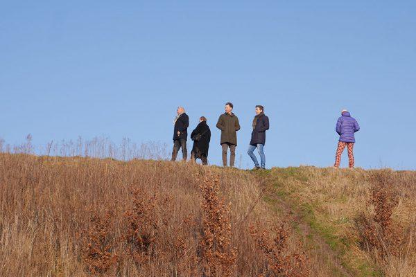 Locatiebezoek aan Noord met kunstenaars