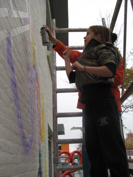 ACCU kinderworkshop muurschildering