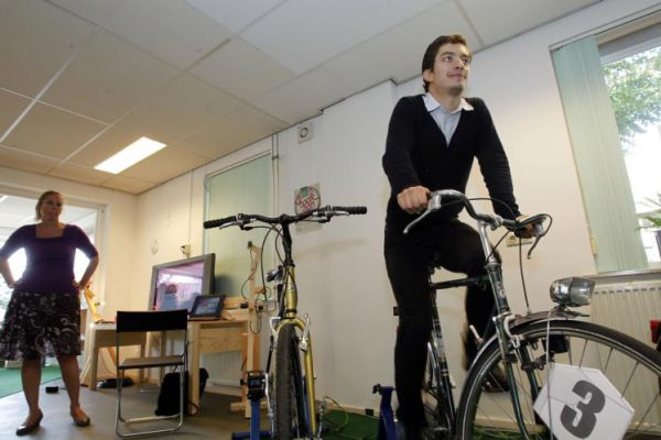 Francisco op fiets
